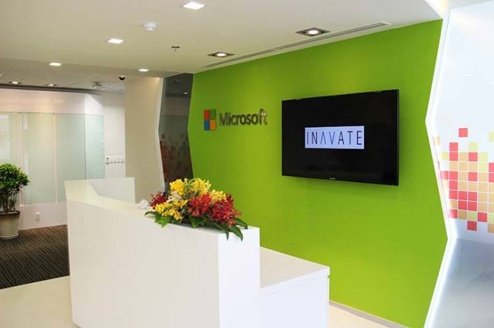 Inavate's fit out at Microsoft Vietnam